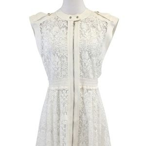 Rebecca Taylor lace zip front dress